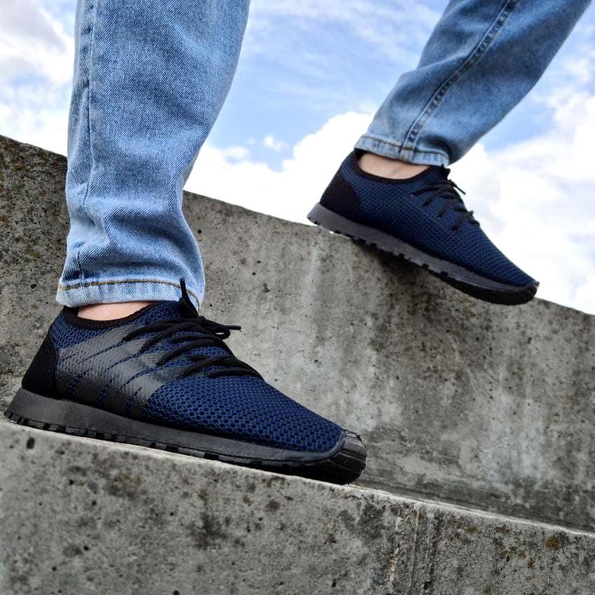 Летние мужские кроссовки синие сетка (Пр-3304сн)