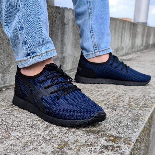 Літні чоловічі кросівки сітка сині (Пр-3305сн)