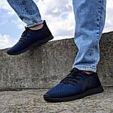 Летние мужские кроссовки сетка синие (Пр-3305сн), фото 2