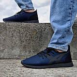 Летние мужские кроссовки сетка синие (Пр-3305сн), фото 3