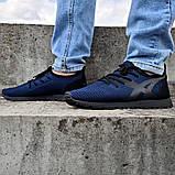 Летние мужские кроссовки сетка синие (Пр-3305сн), фото 4