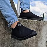 Кросівки літні чоловічі чорного кольору мокасини (Пр-3902ч), фото 3