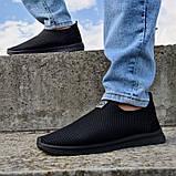 Кросівки літні чоловічі чорного кольору мокасини (Пр-3902ч), фото 4