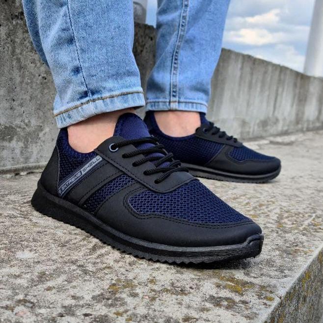 Кросівки чоловічі сині сітка (Пр-3910сн)