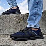 Кросівки чоловічі сині сітка (Пр-3910сн), фото 2
