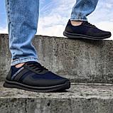 Кросівки чоловічі сині сітка (Пр-3910сн), фото 3