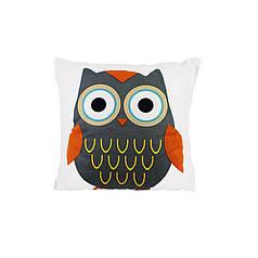 Дитяча бавовняна подушка Lesko AJ0030 Совушка Gray + Orange 30*30см в ліжечко