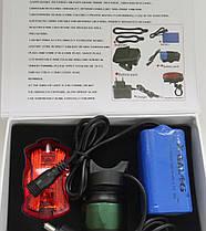 Мощный аккумуляторный велосипедный фонарь Bailong 4 ярких режима работы