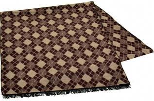 Мужской шерстяной шарф 170 на 30 см 50146-23 коричневый