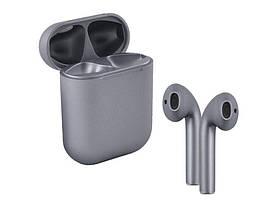 Беспроводные сенсорные наушники i12 TWS Pods Gray
