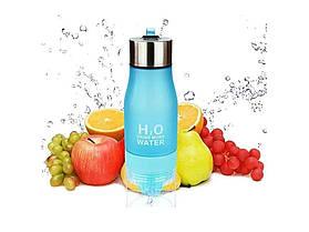Пляшка для води, соковижималка H2O Water Bottle Блакитний