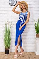 Летнее платье в морском стиле в полоску цвет Сине-белый 102R196