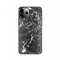 Защитная накладка пленка на панель телефона Черно-белый мрамор