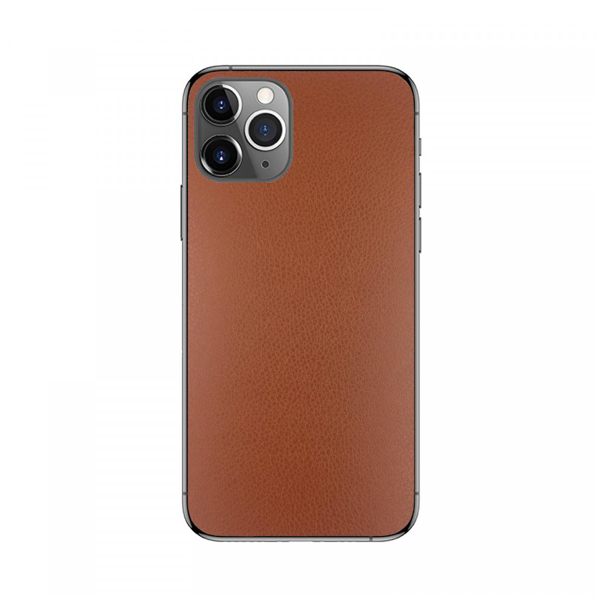 Захисна плівка на задню панель смартфона Коричнева шкіра