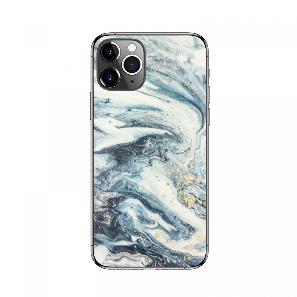 Защитная пленка чехол на смартфон Голубой Мрамор
