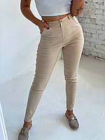 Женские летние джинсовые брюки. Размеры: 42, 44, 46, 48. Цвет: чёрный, бежевый, джинс, олива