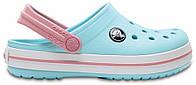 Крокси сабо Дитячі Crocband Kids Ice Blue/White J1 32-33 20 см Світло-блакитний