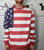"Свитшот с рисунком 3D ""Американский флаг"""