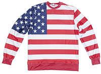 """Детский Свитшот с рисунком """"Американский флаг"""""""