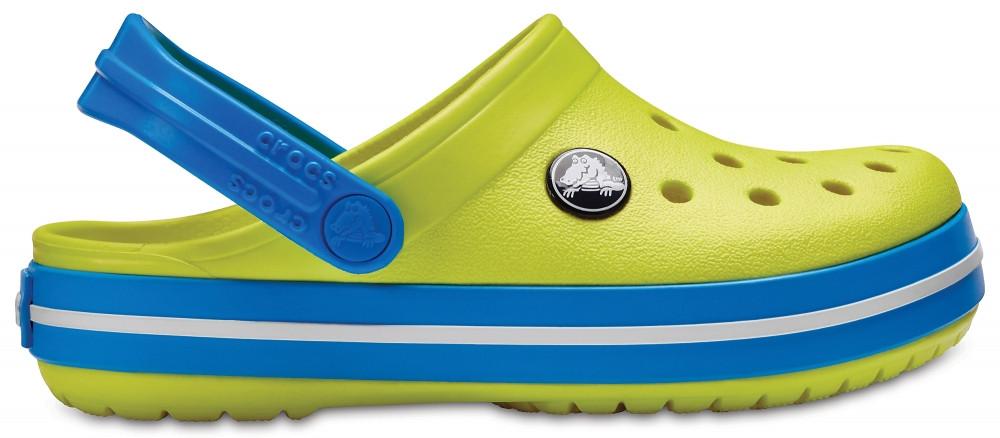 Кроксы сабо Детские Crocband Kids Tennis Ball J2 33-34 20,8 см Желто-синий