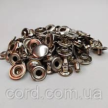 Кнопка Альфа для одежды 12.5 мм. Кнопка № 54. Упаковка (10шт.) Никель (серебро).