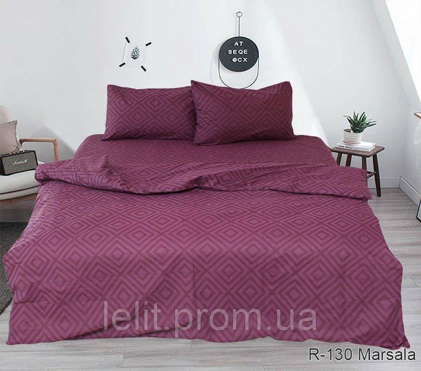 Семейный комплект постельного белья R130Marsala