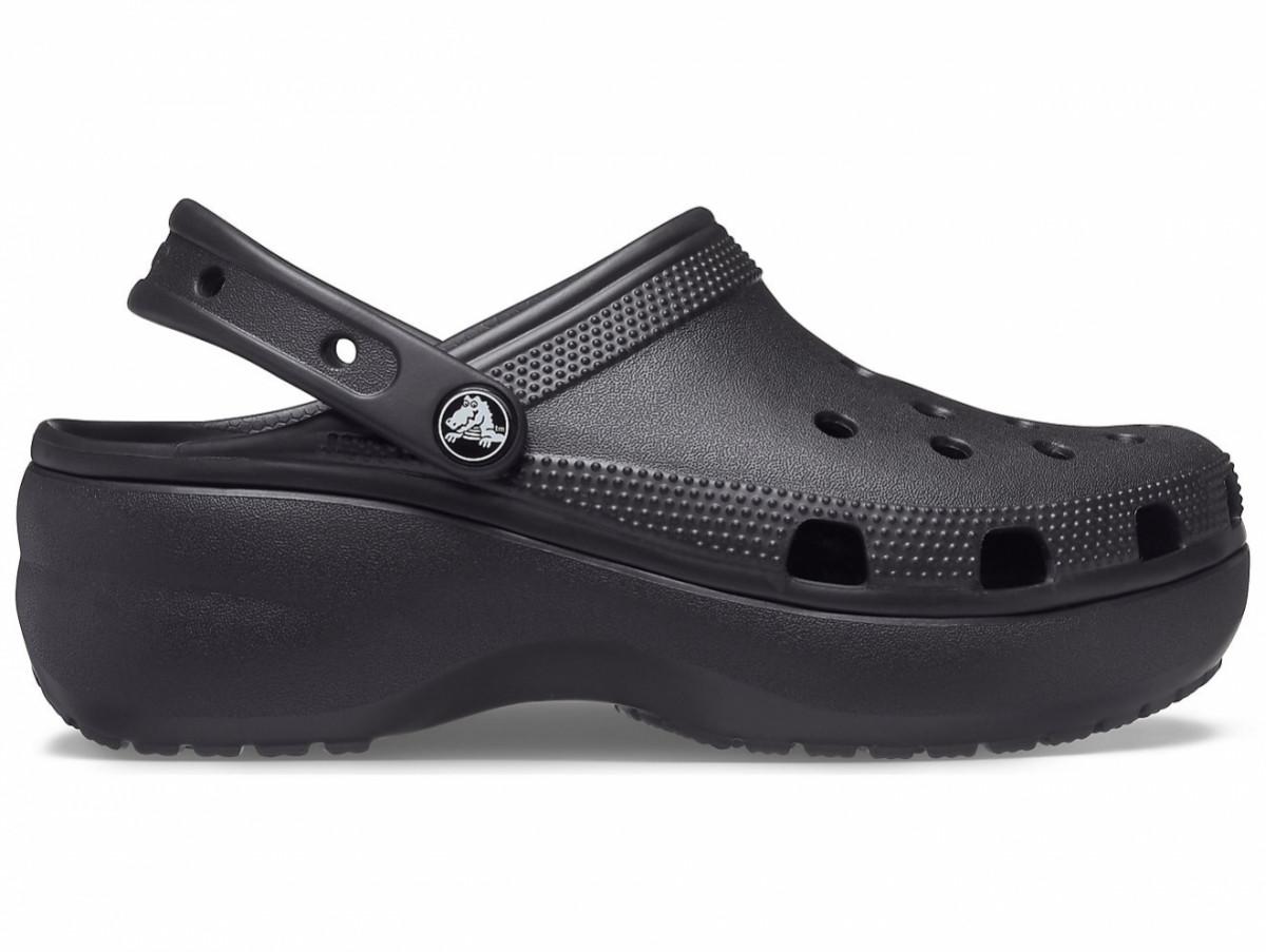Кроксы сабо Женские Classic Platform Black W6 36-37 22,9 см Черный