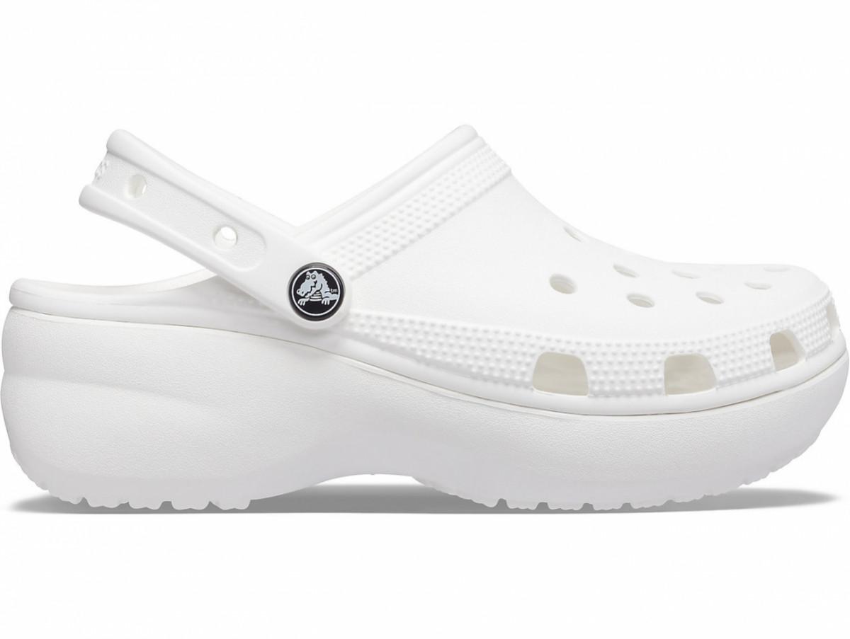 Крокси сабо Жіночі Classic Platform White W9 39-40 25,5 см Білий