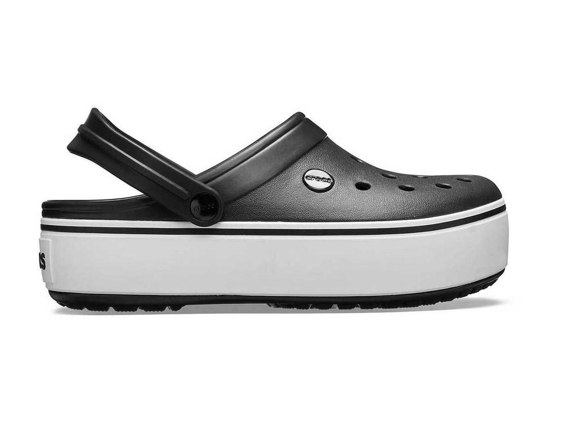 Крокси сабо Жіночі Crocband Platform Black white M4-W6 36-37 22,1 см Чорний