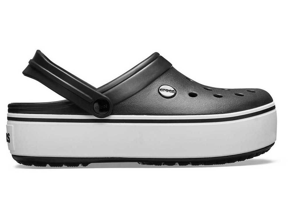 Крокси сабо Жіночі Crocband Platform Black white M7-W9 39-40 24,6 см Чорний