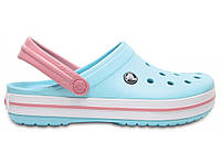 Кроксы сабо Женские CrocbandIce Blue/White M6-W8 38-39 23,8 см Голубой