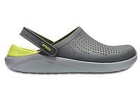 Крокси сабо Чоловічі LiteRide Clog Grey/LightGreen M7-W9 39-40 24,6 см Сірий