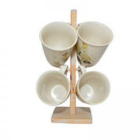 Набор чашек чайных Hortensie 5 предметов Krauff