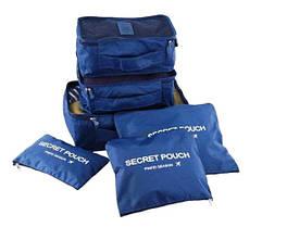 Набір дорожніх органайзерів Secret Pouch Темно-синій
