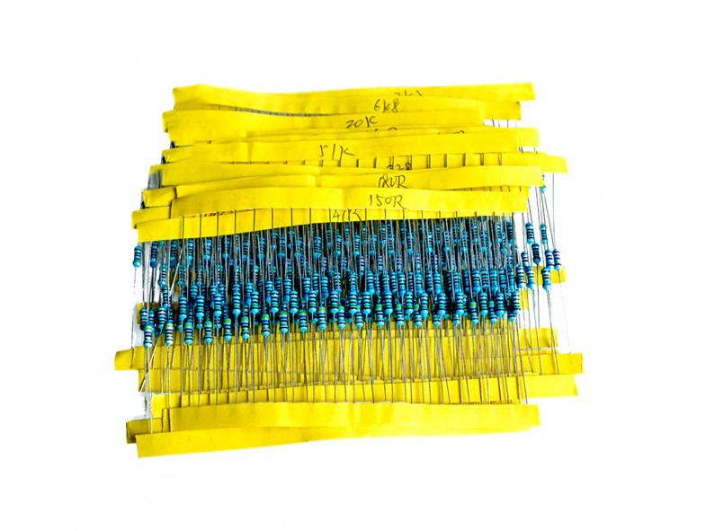 Набір резисторів 600 шт. 1/4 Вт номіналом 12R - 680КОм