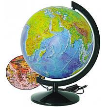 Глобус Фізико-політичний з підсвічуванням 320 мм