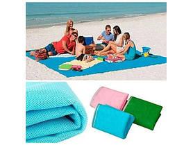 Підстилка покривало на море проти піску - антипесок 2x2 метри Sand Free пляжний килимок