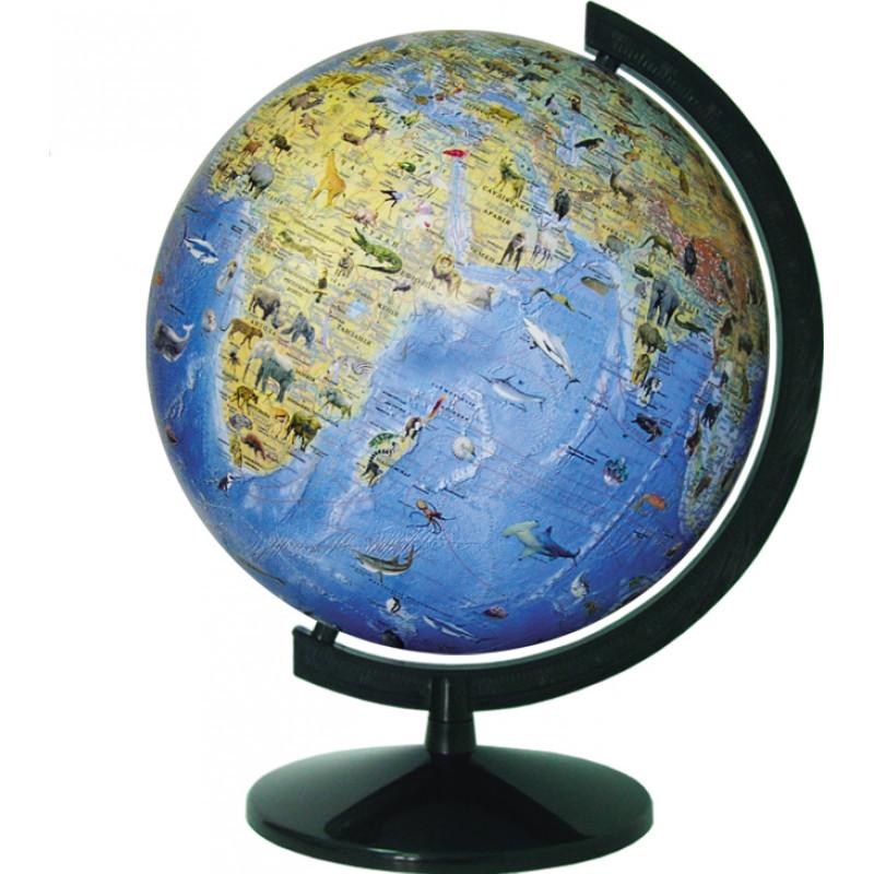Глобус географический с животными 320 мм