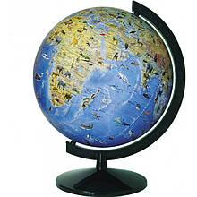 Географічний Глобус з тваринами 320 мм