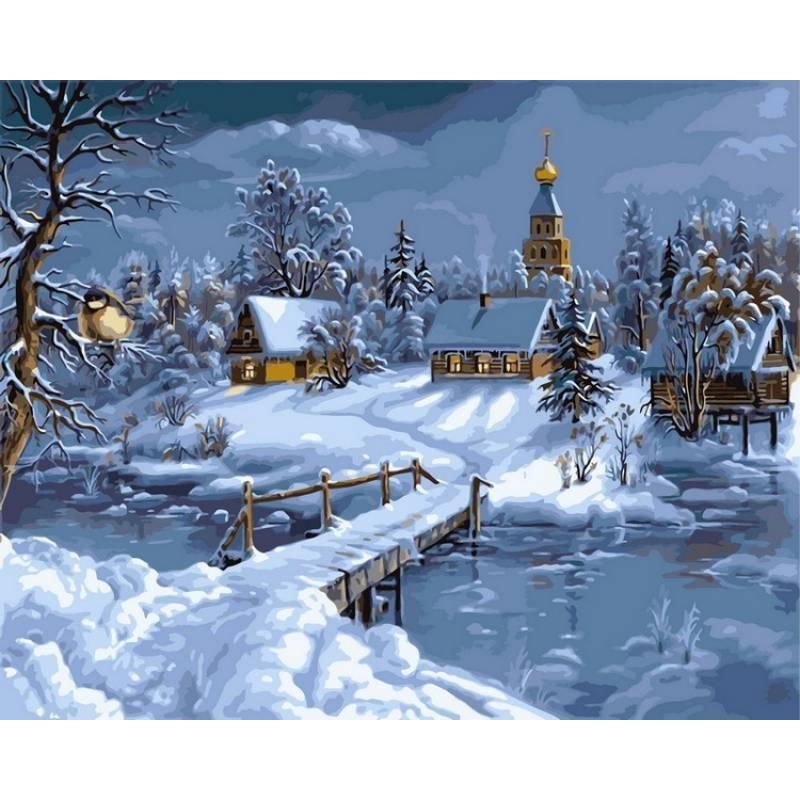 Картина малювання за номерами Babylon VPS169 Зимова казка 50х65см набір для розпису по цифрам у коробці