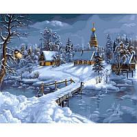 Картина малювання за номерами Babylon VPS169 Зимова казка 50х65см набір для розпису по цифрам у коробці, фото 1