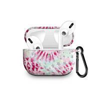 Силіконовий чохол з карабіном для навушників Apple Airpods Pro Рожевий феєрверк