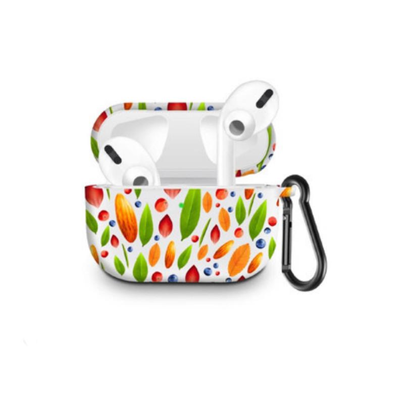 Силіконовий чохол з карабіном для навушників Apple Airpods Pro Сафлор зелений лист