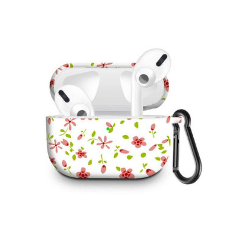 Силіконовий чохол з карабіном для навушників Apple Airpods Pro Квітка бабки