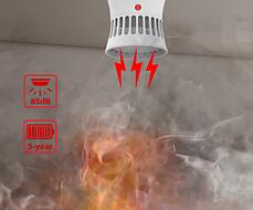 Детектор дыма, пожарная сигнализация, домашняя система безопасности, 85 дБ датчик дыма, противопожарная защита, фото 3