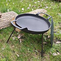 Сковорода из диска бороны 41см с крышкой, для жарки