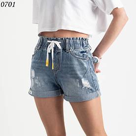 Короткі джинсові шорти стильні на гумці (норма 6шт 25-30)