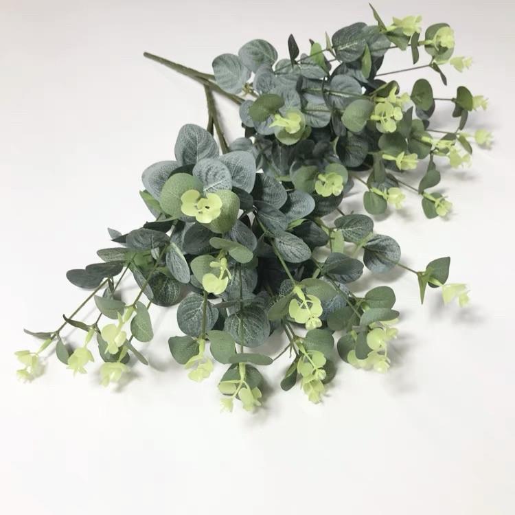 Евкаліпт букет зелений і блакитний 52 см