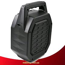 Портативна колонка валізу ESS-211 - бездротова Bluetooth колонка зі світломузикою, USB SD AUX FM радіо, фото 2