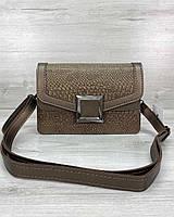 Стильная женская сумка клатч, стильный клатч, женская сумочка «Арни» кофейная, фото 1